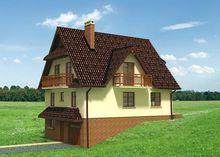 Величний будинок для нерівної житлової ділянки