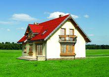 Проект для будівництва затишного мансардного будинку 170 m² з еркером