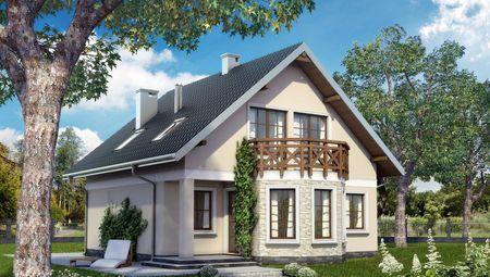 Двоповерховий котедж в традиціях європейської архітектури