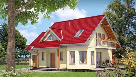 Проект будинку більше 150 m² з кутовим еркером