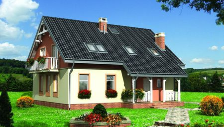 Барвистий будинок з просторим балконом