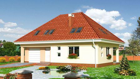 Будинок з мансардним поверхом в європейському стилі