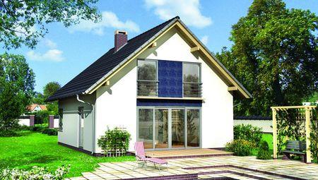 Сучасний комфортний будинок зі скляним виходом на терасу