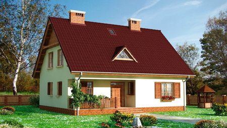 Проект мансардного будинку в класичному стилі 9 на 12 м