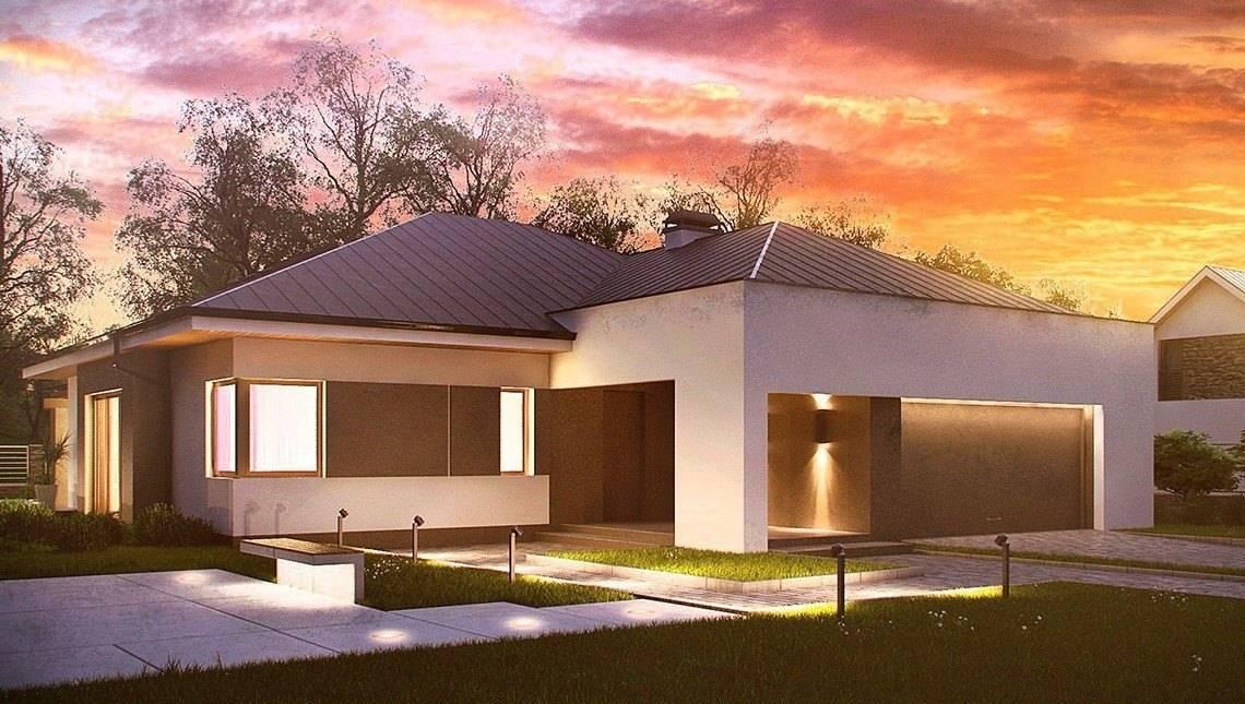 Проект будинку з трьома спальнями і фронтальним гаражем