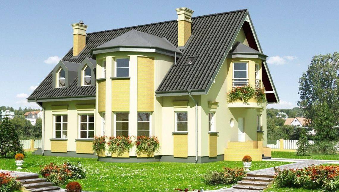 Проект розкішного заміського особняка з площею 220 m²