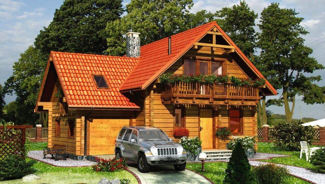 Неповторний дерев'яний будиночок з площею 150 m²