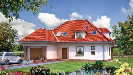 Проект стильного котеджу з площею близько 200 m²