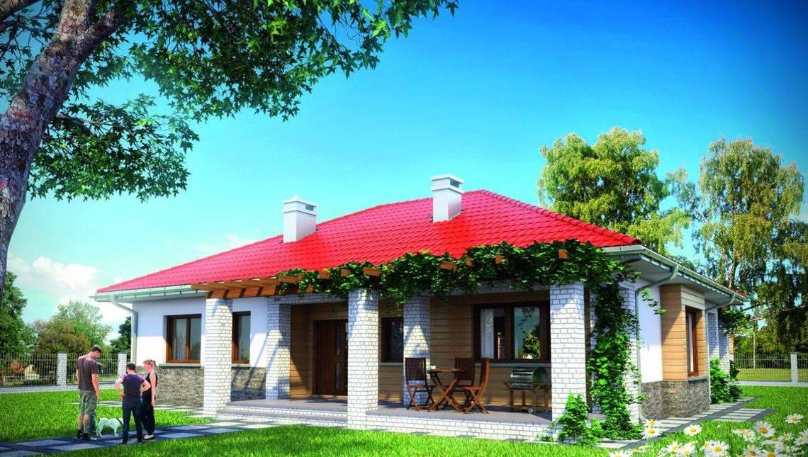 Стильний одноповерховий будинок з величезною терасою