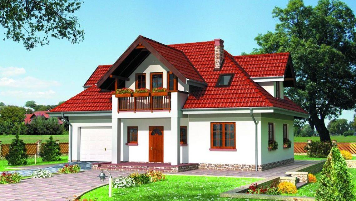Проект будинку з мансардою 12 на 12 м