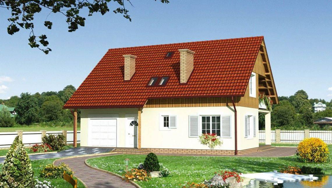 Привабливий проект котеджу більше 200 m² з мансардою та гаражем на 1 машину
