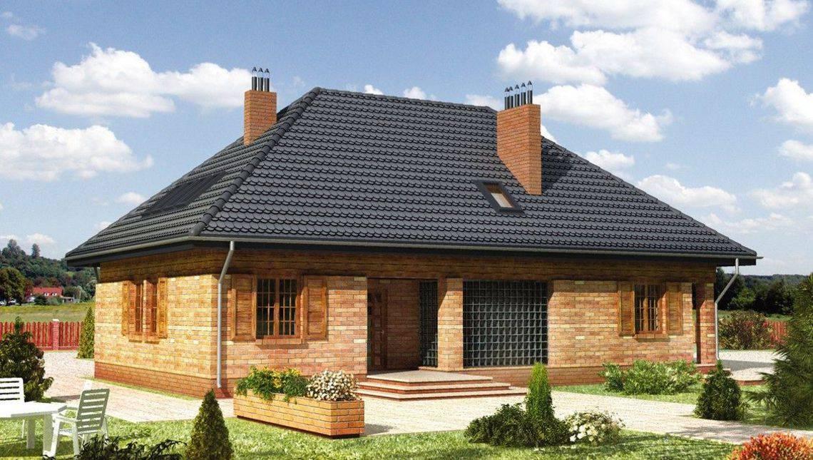 Житловий будинок мансардного типу з зимовим садом