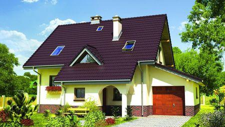 Гарний будинок з гаражем і еркером