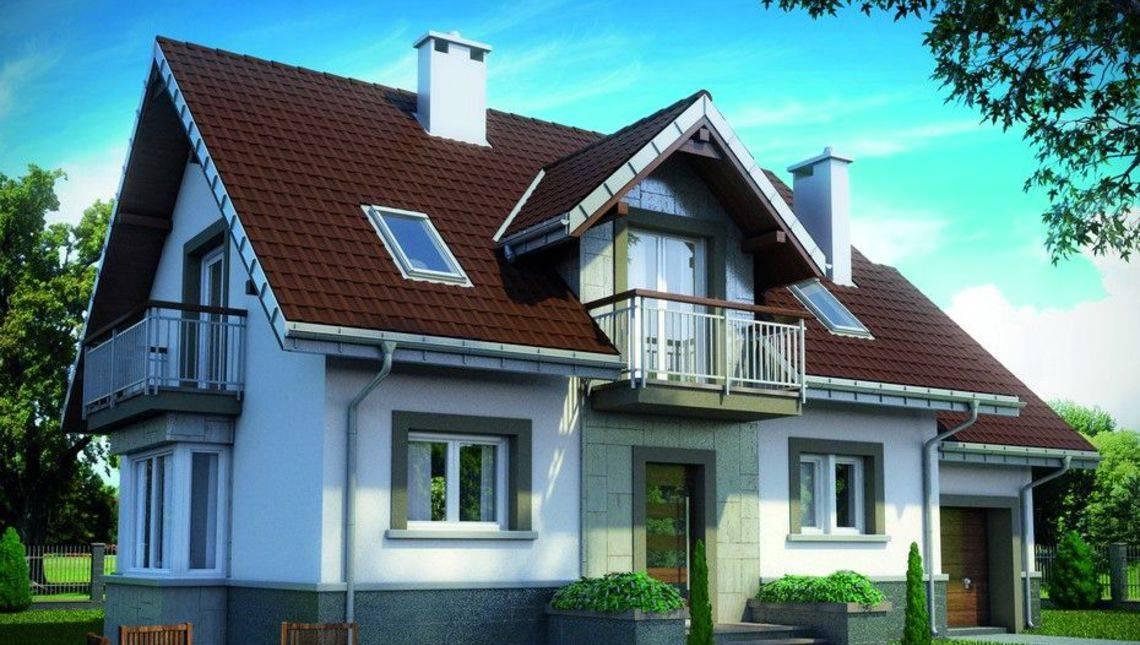 Стильний двоповерховий будинок з чотирма балконами