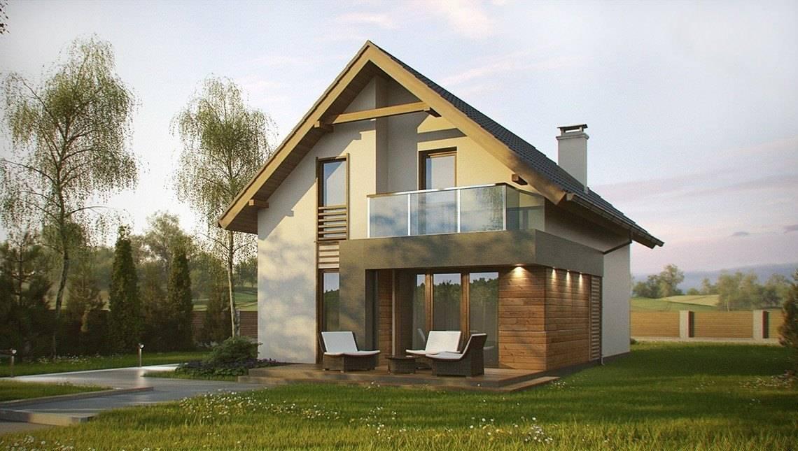Проект невеликого класичного будинку для вузької ділянки