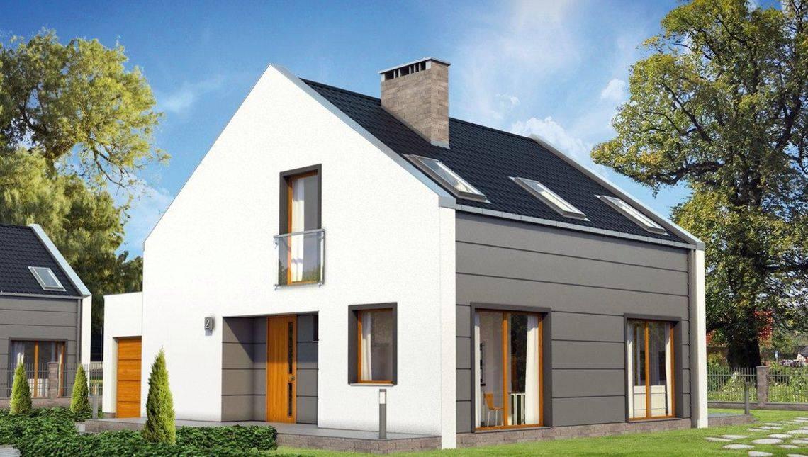 Проект сучасного мансардного котеджу з чотирма спальнями