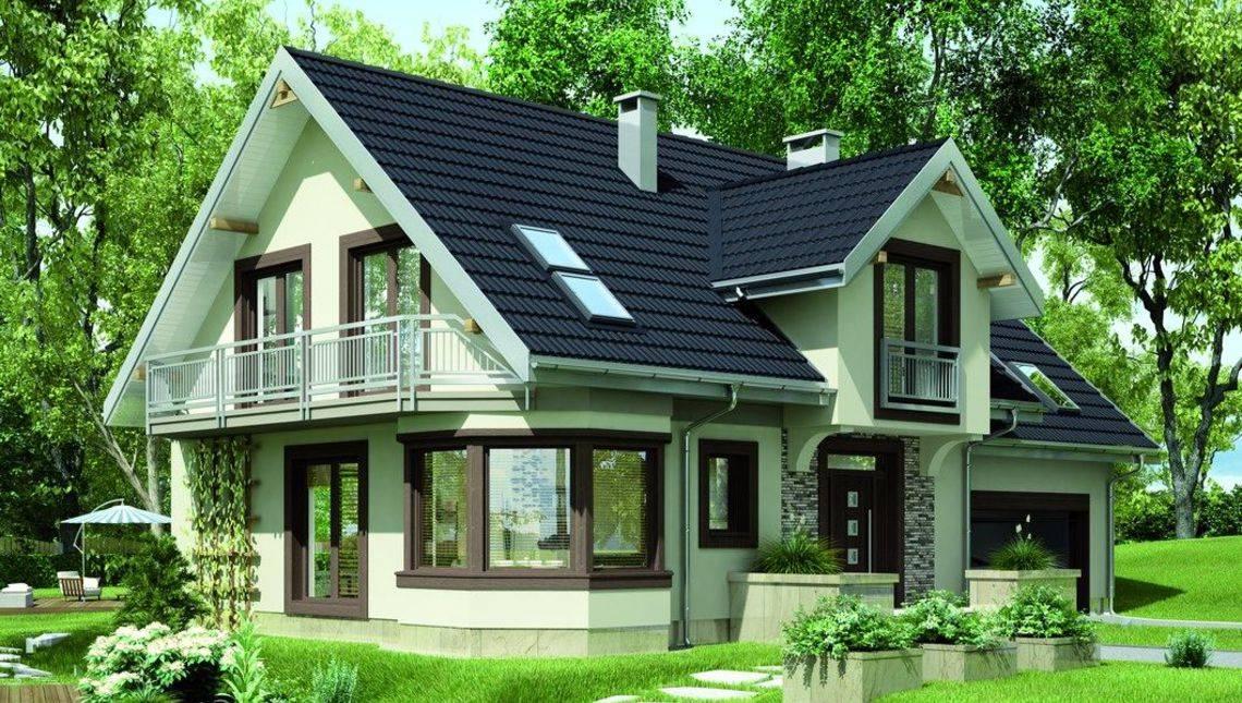 Проект елегантного заміського будинку підвищеної комфортності