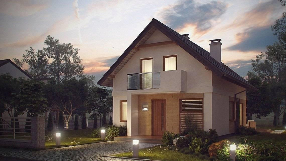 Проект маленького будинку для вузької ділянки