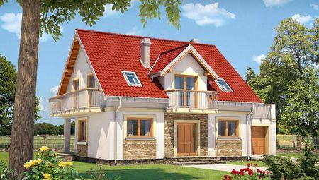 Чудовий двоповерховий будинок, декорований цеглою