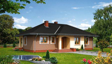 Одноповерховий житловий будинок з трьома спальнями і кабінетом