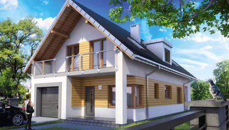 Проект двоповерхового будинку для вузької ділянки