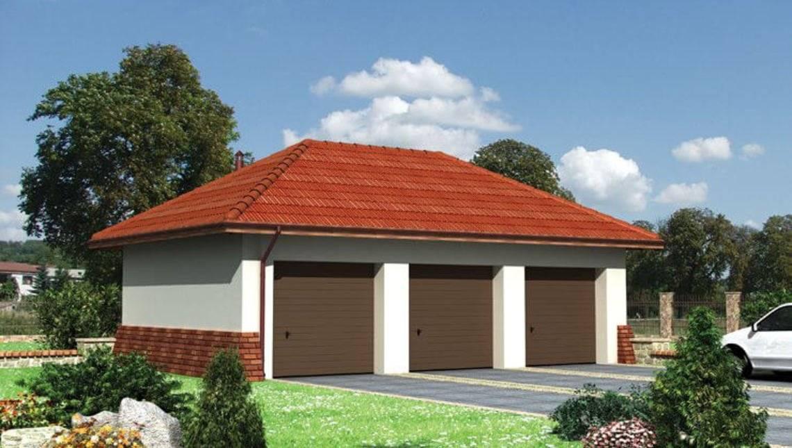 Проект гаража на три автомобіля 6 м на 10м