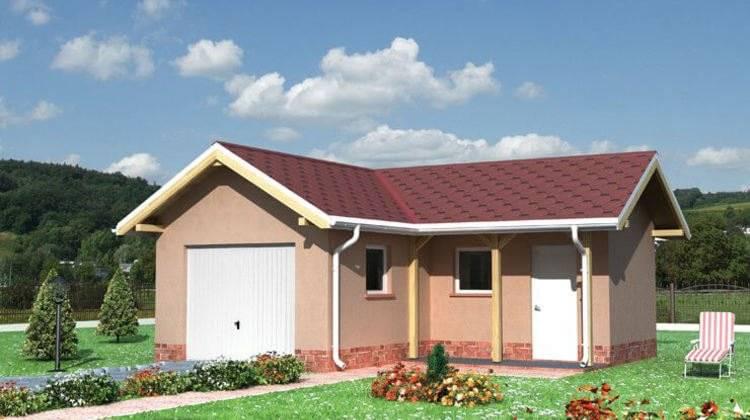 Архітектурний проект гаража з господарським приміщенням