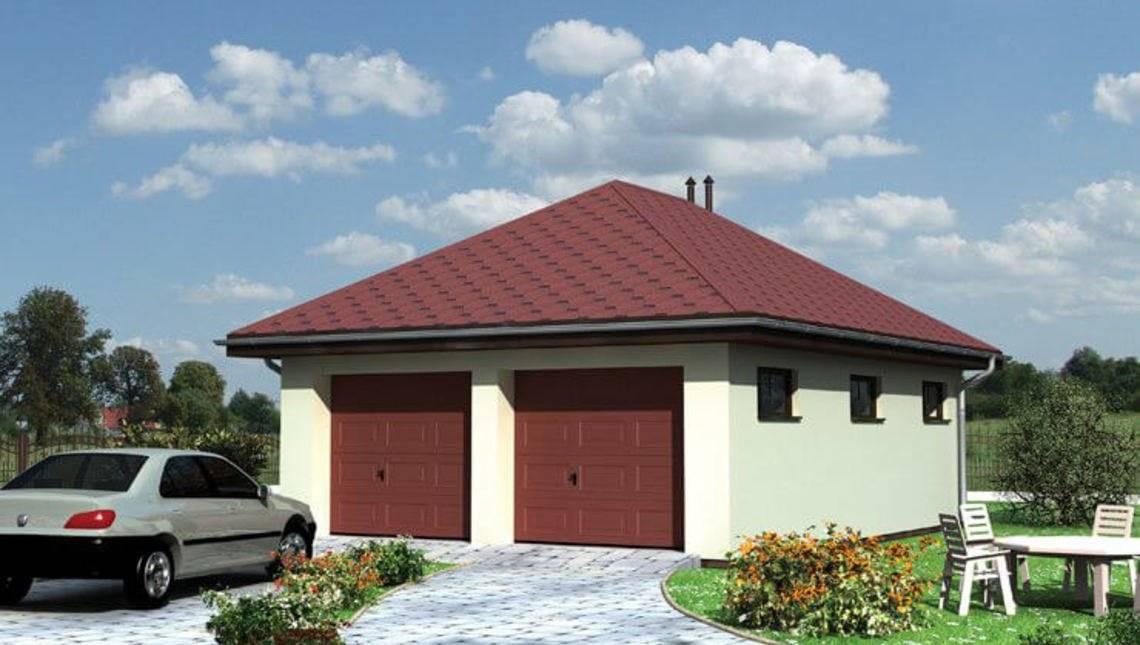 Архітектурний проект гаража на дві машини