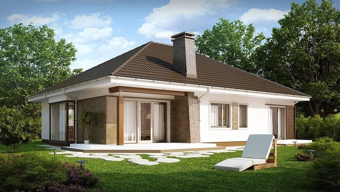 Проект одноповерхового котеджу з гаражем і 4 затишними спальнями