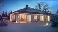 Проект одноповерхового будинку з великим гаражем для двох автомобілів