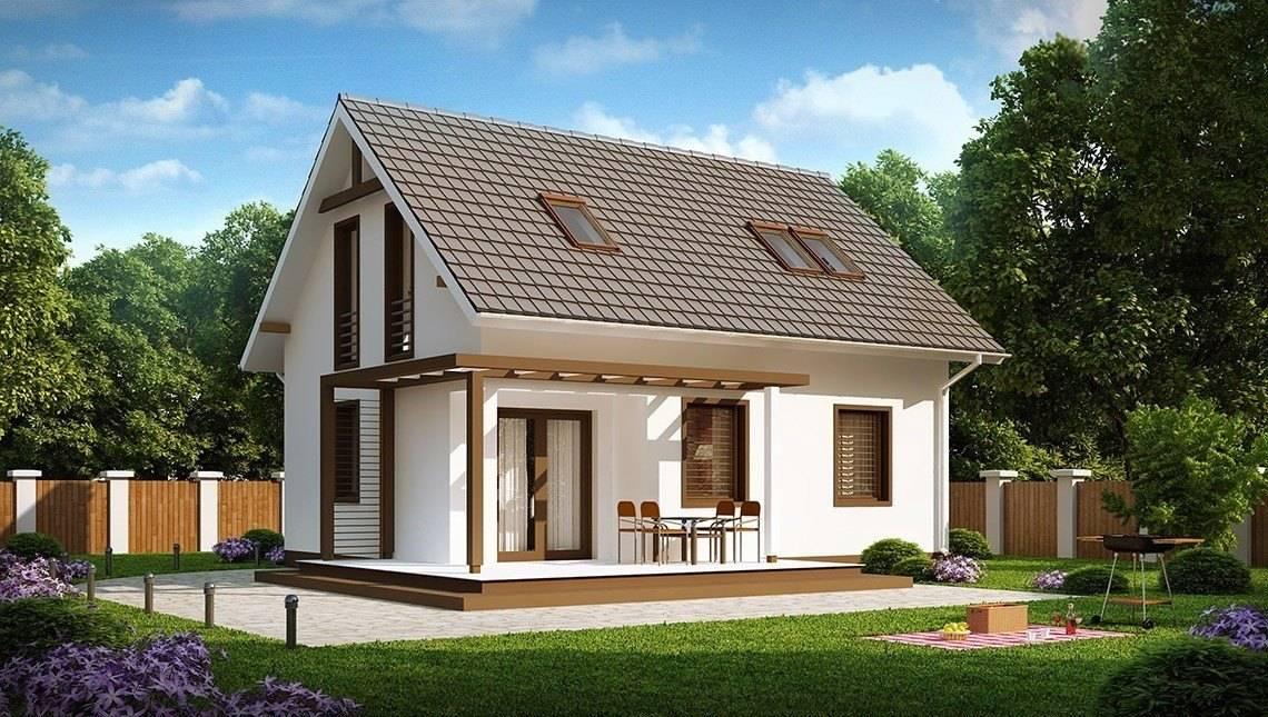 Проект маленького будинку з мансардою на 90 m²