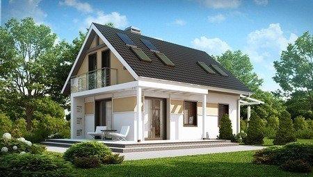 Проект двоповерхового економ будинку 100 m²