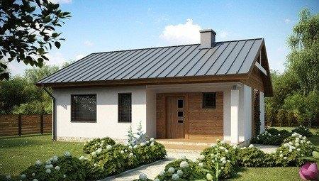 Проект невеликого одноповерхового будинку