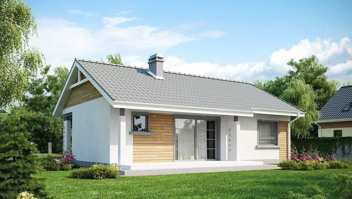 Проект невеликого одноповерхового будинку з кутовим вікном кухні