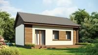 Проект невеликого одноповерхового економного будинку