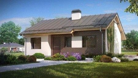 Проект простого недорогого одноповерхового будинку