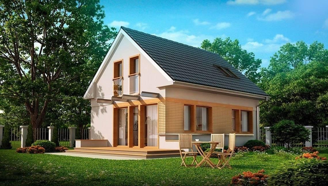 Проект будинку з мансардою 7 на 9 в традиційному стилі