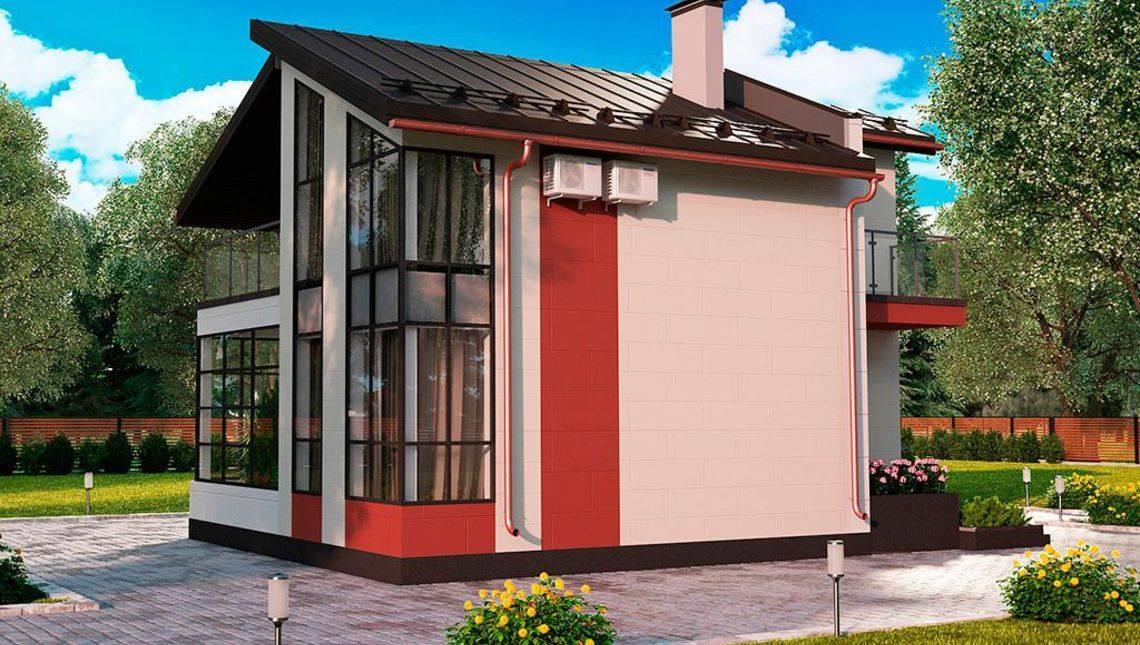 Проект затишного будинку з великими вікнами