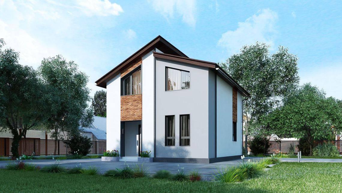 Компактний двоповерховий котедж до 80 m²
