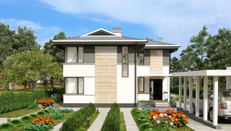 План шикарного сучасного особняка з чотирма спальнями