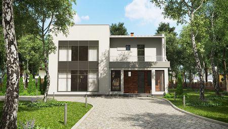 План сучасного житлового будинку, наповненого світлом