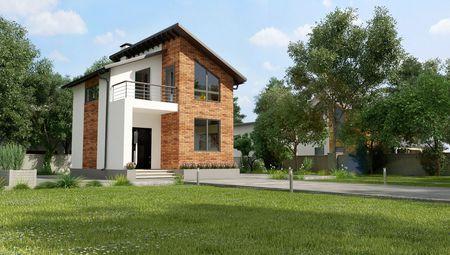 План невеликого заміського будинку площею 60м2