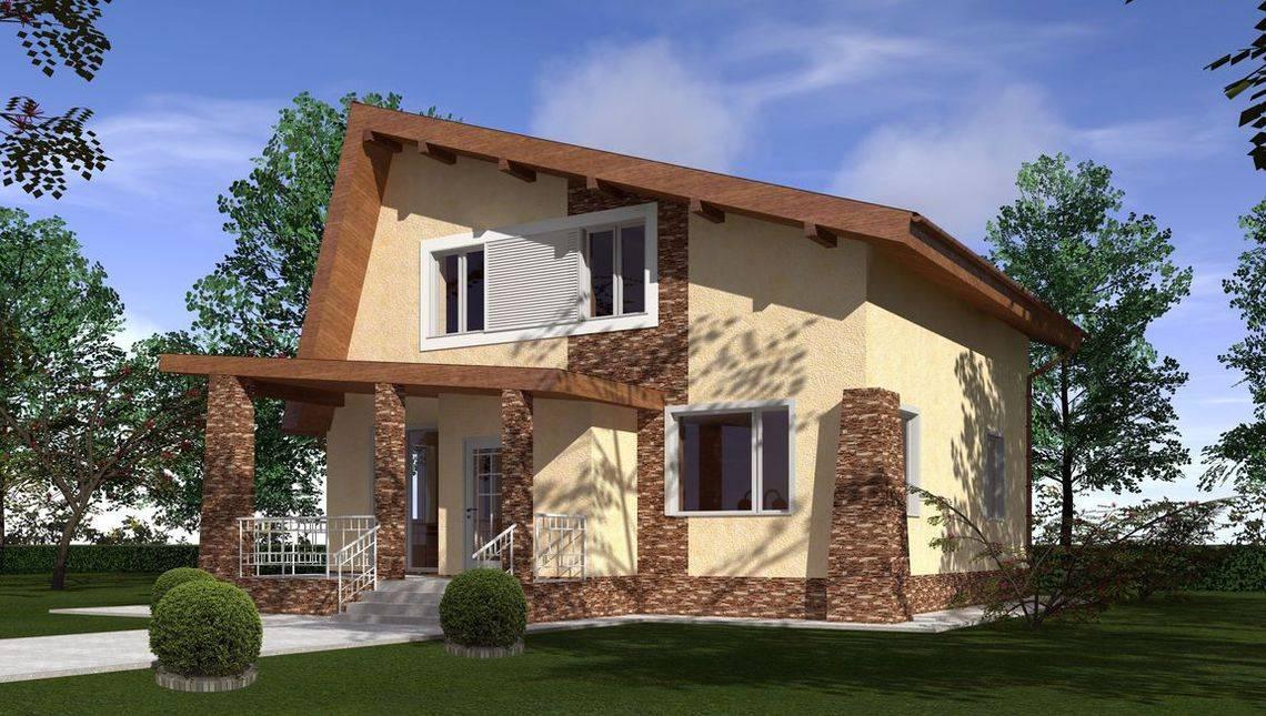 Проект мансардного будинку незвичайної форми