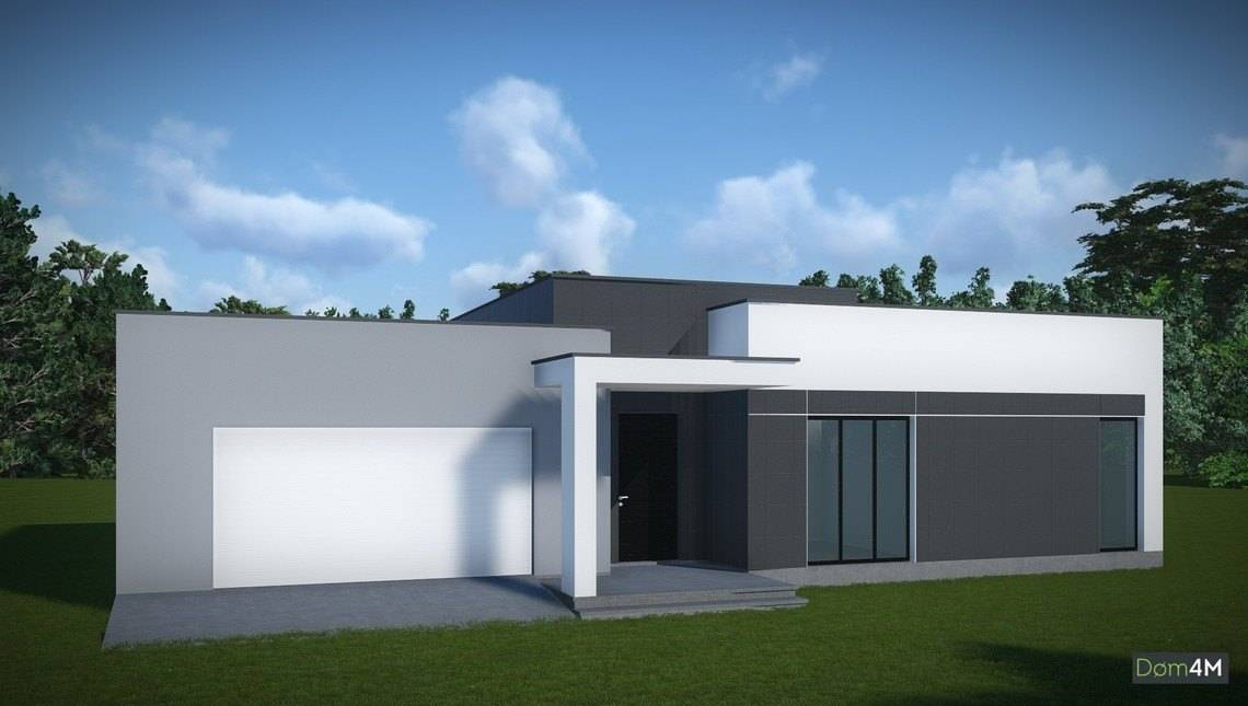 Проект сучасного одноповерхового будинку з пласким дахом