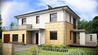 Проект сучасного двоповерхового будинку простої конструкції