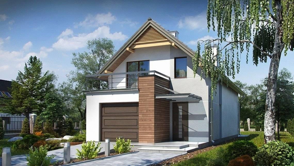 Проект будинку для вузької ділянки з гаражем