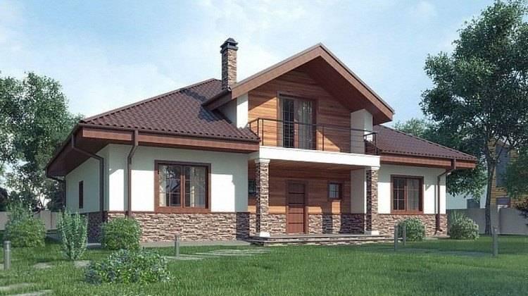 Проект будинку з мансардою до 200 m²