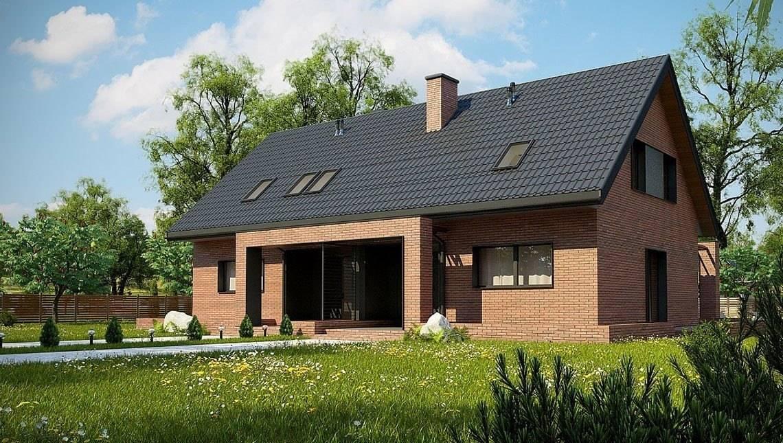 Компактний мансардний будинок на дві сім'ї
