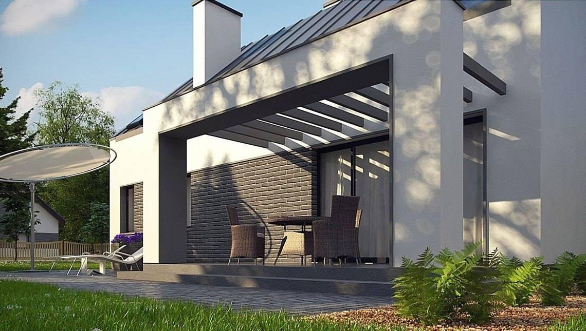 Проект сучасного стильного будинку з гаражем