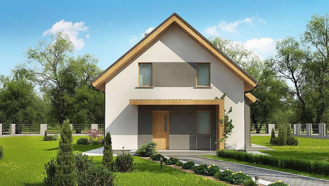 Проект затишного будинку з гостьовою спальнею на першому поверсі